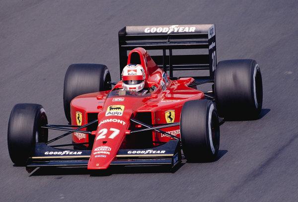 1989 Portuguese Grand Prix.Estoril, Portugal.22-24 September 1989.Nigel Mansell (Ferrari 640).Ref-89 POR 26.World Copyright - LAT Photographic