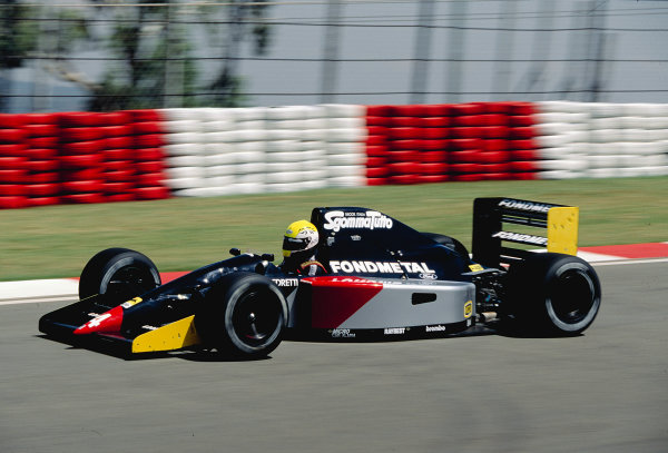 1992 South African Grand Prix.Kyalami, South Africa. 28/2-1/3 1992.Andrea Chiesa (Fondmetal GR01 Ford).Ref-92 SA 23.World Copyright - LAT Photographic