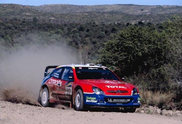 2003 World Rally ChampionshipRally Argentina, Cordoba, Argentina, 7th - 11th May 2003.Sebastien Loeb/Daniel elena (Citroen Xsara), action.World Copyright: LAT Photographicref: 03WRCArg24