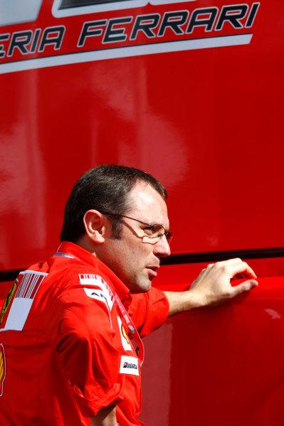 Silverstone, Northamptonshire, UK.3rd July 2008.Stefano Domenicali, Sporting Director, Ferrari. Portrait.World Copyright: Charles Coates/LAT Photographic.ref: Digital Image _26Y1188