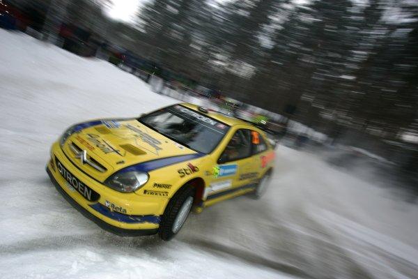 2007 FIA World Rally Championship,Round 2 Swedish Rally 8th-11th February 2007,Gigi Galli, Citroen, action.Worldwide Copyright McKlein/LAT.