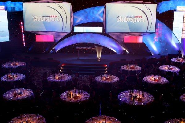 2006 Autosport AwardsGrosvenor House Hotel, London. 3rd December 2006.The Great Hall is set.World Copyright: Peter Spinney/LAT Photographicref: Digital Image RK4O2531