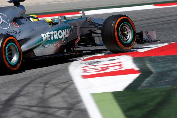 Circuit de Catalunya, Barcelona, Spain 12th May 2013 Nico Rosberg, Mercedes W04.  World Copyright: Glenn Dunbar/LAT Photographic ref: Digital Image _89P6253