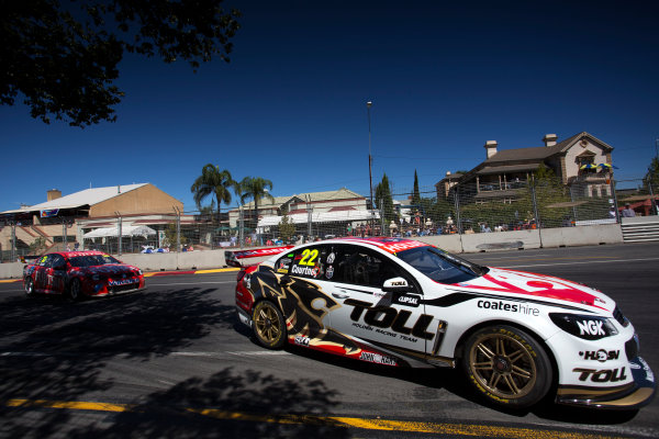2013 V8 Supercar Championship. Round 1. Clipsal 500, Adelaide. 3rd March 2013. Sunday Race 2. James Courtney (Holden Racing Team/Walkinshaw Racing – Holden Commodore VF) Action.  World Copyright:  Daniel Kalisz/LAT Photographic Ref: Digital Image DKAL7048.jpg .