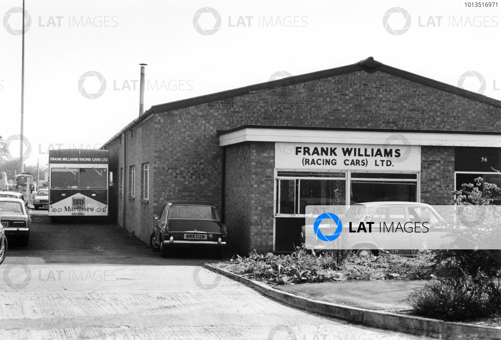 Slough, Berkshire, UK. 1973.An ISO Marlboro F1 team truck outside the workshop.World Copyright: LAT Photographicref: 35mm Black and White Negative 5764_7A-8