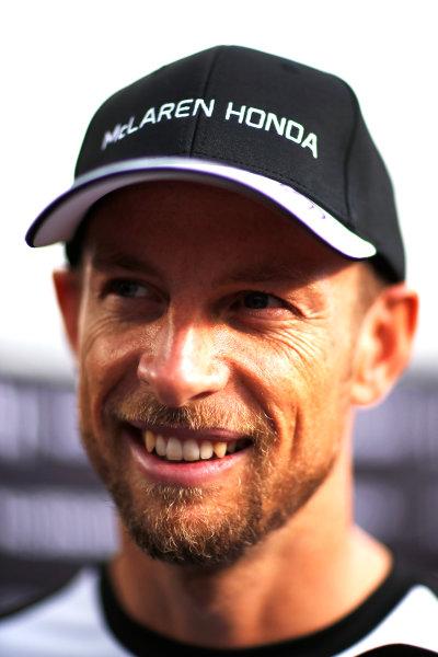 Autodromo Nazionale di Monza, Monza, Italy. Thursday 3 September 2015. Jenson Button, McLaren. World Copyright: Alastair Staley/LAT Photographic ref: Digital Image _R6T7723