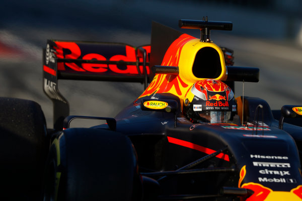 Circuit de Barcelona Catalunya, Barcelona, Spain. Thursday 02 March 2017. Max Verstappen, Red Bull Racing RB13 TAG Heuer.  World Copyright: Steven Tee/LAT Images ref: Digital Image _R3I7321