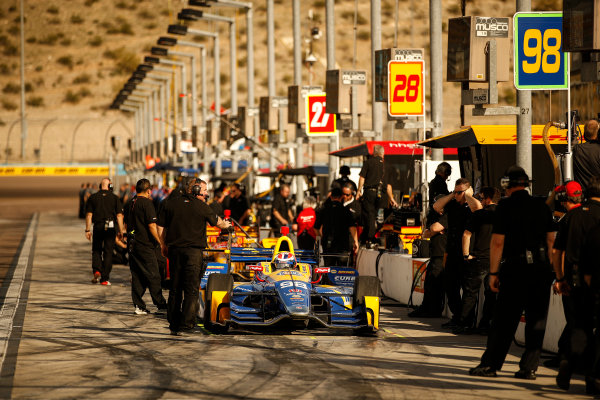 2017 IndyCar Media Day - Track Action Phoenix Raceway, Arizona, USA Friday 10 February 2017 Alexander Rossi World Copyright: Michael L. Levitt/LAT Images ref: Digital Image _01I0475