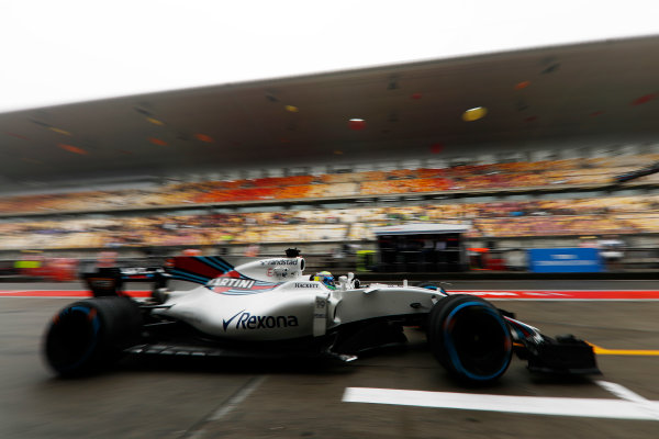 Shanghai International Circuit, Shanghai, China.  Friday 07 April 2017. Felipe Massa, Williams FW40 Mercedes.  World Copyright: Glenn Dunbar/LAT Images ref: Digital Image _31I3454