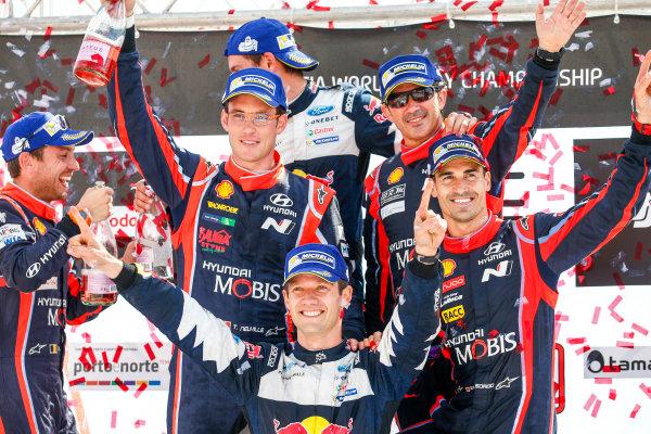 2017 FIA World Rally Championship, Round 06, Rally Portugal, May 18 - 21 2017, Sebastien Ogier, Julien Ingrassia, Ford, Podium, Worldwide Copyright: McKlein/LAT
