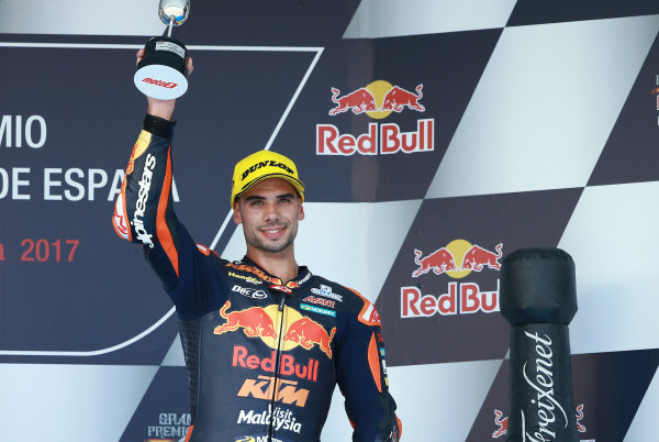 2017 Moto2 Championship - Round 4 Jerez, Spain Sunday 7 May 2017 Podium: third place Miguel Oliveira, Red Bull KTM Ajo World Copyright: Gold & Goose Photography/LAT Images ref: Digital Image 668733