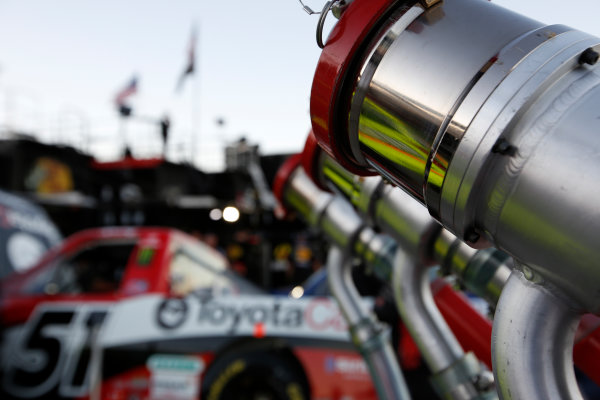 31 October, 1 November, 2013, Fort Worth, Texas, USA Fuel Nozzles in front of the Kyle Busch truck © 2013, Michael L. Levitt LAT Photo USA