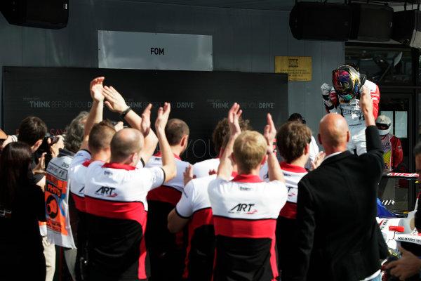 2015 GP3 Series Round 1. Circuit de Catalunya, Barcelona, Spain. Sunday 10 May 2015. Marvin Kirchhofer (GER, ART Grand Prix). Photo: Zak Mauger/GP3 Series Media Service. ref: Digital Image _MG_7365