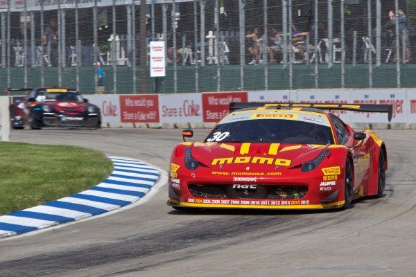 29-31 May 2015, Detroit, Michigan USA Henrique Cisneros, #30 Ferrari ©2015, Brian Cleary LAT Photo USA