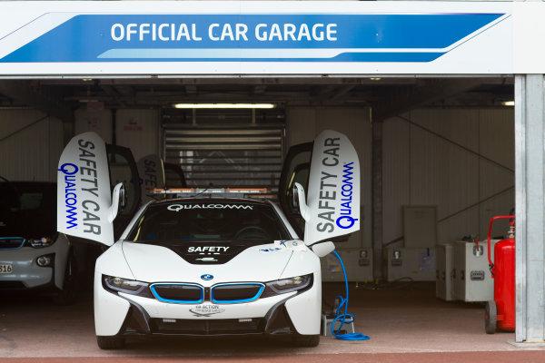 2014/2015 FIA Formula E Championship. BMW Safety Car. Thursday Set-Up. Monaco ePrix, Monte Carlo, Monaco, Europe. Thursday 7 May 2015  Photo: Adam Warner/LAT/Formula E ref: Digital Image _L5R8031