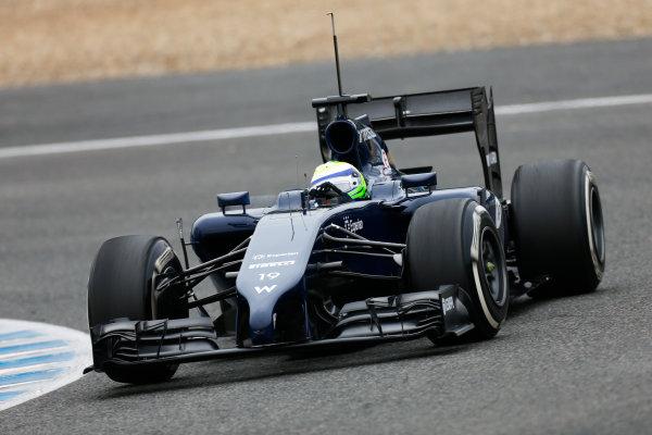 2014 F1 Pre Season Test 1 - Day 4 Circuito de Jerez, Jerez, Spain. Friday 31 January 2014. Felipe Massa, Williams FW36 Mercedes. World Copyright: Andrew Ferraro/LAT Photographic. ref: Digital Image _79P7878.JPG