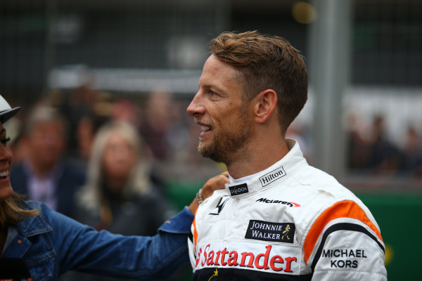 Silverstone, Northamptonshire, UK.  Thursday 13th July 2017. Jenson Button, McLaren World Copyright: JEP/LAT Images