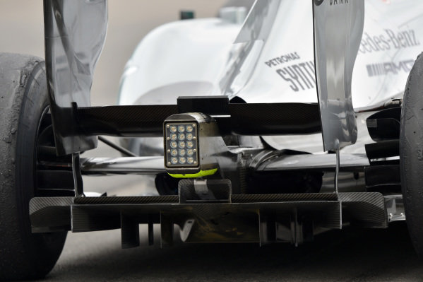 Mercedes AMG F1 W04 rear detail. Formula One World Championship, Rd9, German Grand Prix, Practice, Nurburgring, Germany, Friday 5 July 2013.