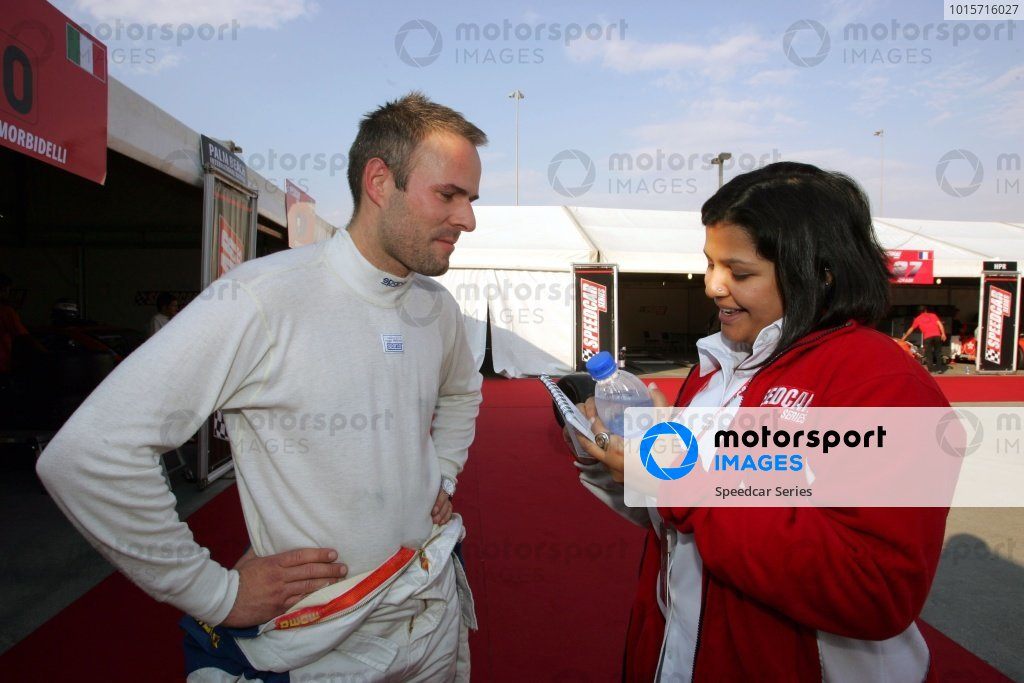 Marcel Tiemann (GER) Continental Circus talks with Anila Ratnam, Speedcar Series Media and PR Co-ordinator.