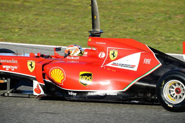 Kimi Raikkonen (FIN) Ferrari F14 T. Formula One Testing, Jerez, Spain, Day One, Tuesday 28 January 2014.