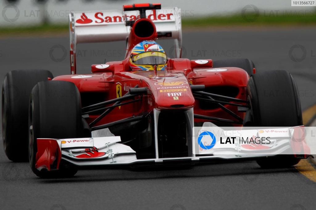 Albert Park, Melbourne, Australia 25th March 2011. Fernando Alonso, Ferrari 150° Italia. Action.  World Copyright: Andrew Ferraro/LAT Photographic ref: Digital Image _Q0C8243