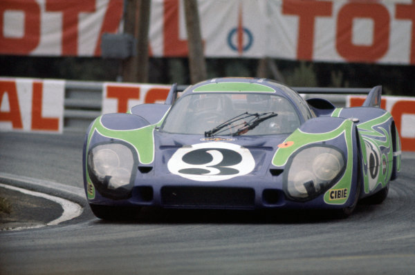 1970 Le Mans 24 hours. Le Mans, France. 13 - 14 June 1970 Gerard Larrouse & Willy Kauhsen (Porsche 917 LH), 2nd position,  action World Copyright: LAT PhotographicRef: 70LM27