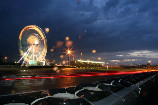 Le Mans, France.14th - 18th June. Night time past the fun fair, atmosphere.World Copyright:Kevin Wood/LAT PhotographicRef: Digital Image Only IMG_1589