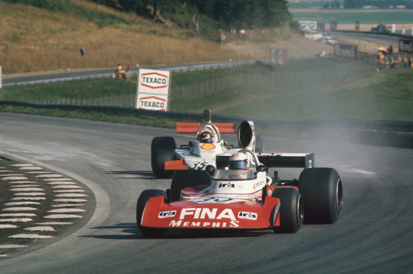 Osterreichring, Zeltweg, Austria. 16-18 August 1974. Dieter Quester, Surtees TS16 Ford, leads Ian Ashley, Token RJ02 Ford. Ref: 74AUT11. World Copyright - LAT Photographic