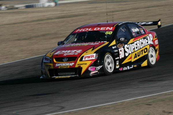 V8 Supercar driver Cameron McConville during Round 7 of the Australian V8 Supercar Championship Series at Queensland Raceway, Ipswich. Australia - July, 2007.