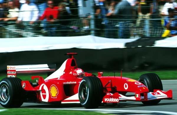 Michael Schumacher (GER), Ferrari F2002, finished the race in second place.