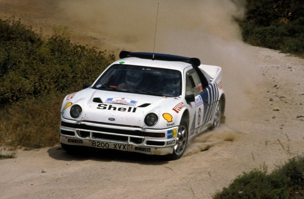 Kalle Grundel (SWE) / Benny Melander (SWE) Ford RS200 retired from the rally on SS17.FIA World Rally Championship, Rd6, Acropolis Rally, Athens, Greece, 2-4 June 1986.