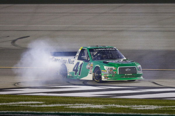 #41: Ben Rhodes, ThorSport Racing, Ford F-150 Alpha Energy Solutions celebrates
