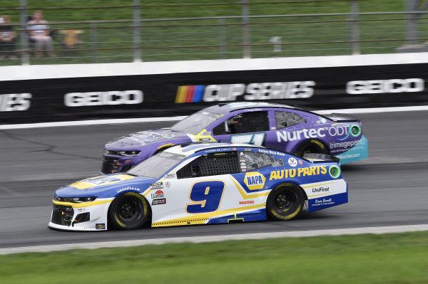 #9: Chase Elliott, Hendrick Motorsports, Chevrolet Camaro NAPA Auto Parts, #51: Cody Ware, Petty Ware Racing, Chevrolet Camaro Nurtec ODT