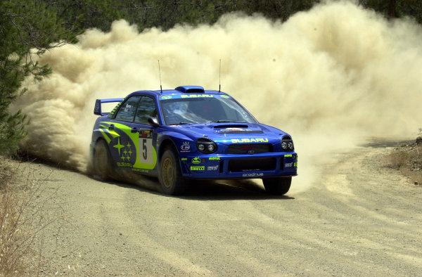 2001 World Rally ChampionshipCyprus Rally, June 1-3, 2001Richard Burns during shakedownPhoto: Ralph Hardwick/LAT