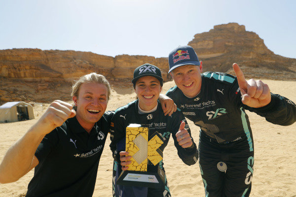 Nico Rosberg, founder and CEO, Rosberg X Racing Molly Taylor (AUS)/Johan Kristoffersson (SWE), Rosberg X Racing celebrate with trophy