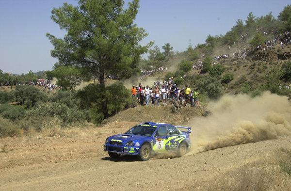 2001 World Rally ChampionshipCyprus Rally June 1-3, 2001Richard Burns on Stage 19.Photo: Ralph Hardwick/LAT