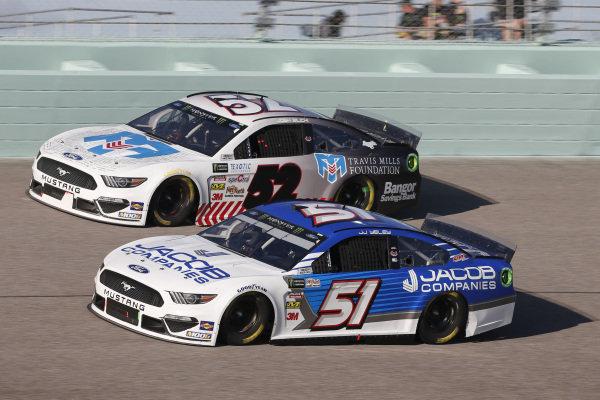 #51: J.J. Yeley, Petty Ware Racing, Ford Mustang JACOB COMPANIES #52: Josh Bilicki, Rick Ware Racing, Chevrolet Camaro BANGOR SAVINGS BANK / TRAVIS MILLS FOUNDATION
