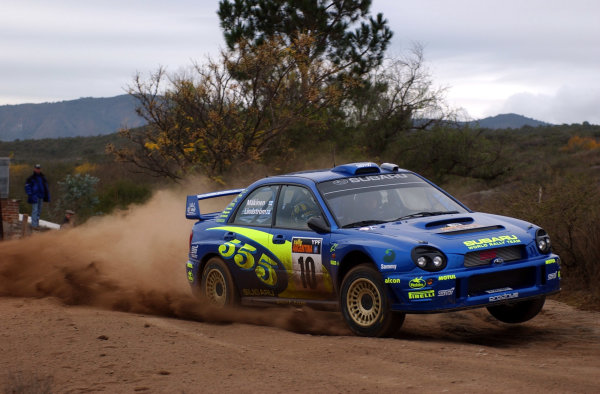 World Rally Championship, Rally of Argentina, May 17-20, 2002.Tommi Makinen during shakedown.Photo: Ralph Hardwick/LAT