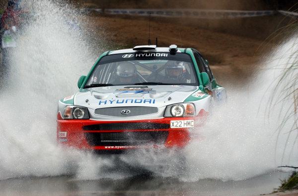 World Rally Championship, Rally of Argentina, May 17-20, 2002.Juha Kankkunen during shakedown.Photo: Ralph Hardwick/LAT