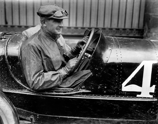 1922 French Grand Prix.Strasbourg, France.15-16 July 1922.Felice Nazzaro (Fiat 804) 1st position.A Race Through Time exhibition number 37.World Copyright - LAT Photographic