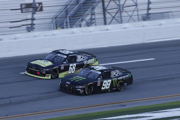 #98: Riley Herbst, Stewart-Haas Racing, Ford Mustang Monster Energy, #68: Brandon Brown, Brandonbilt Motorsports, Chevrolet Camaro Jabs Construction