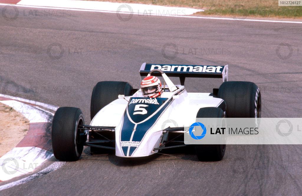 1980 Italian Grand Prix.Monza, Italy.12-14 September 1980.Nelson Piquet (Brabham BT49 Ford) 1st position.Ref-80 ITA 10.World Copyright - LAT Photographic