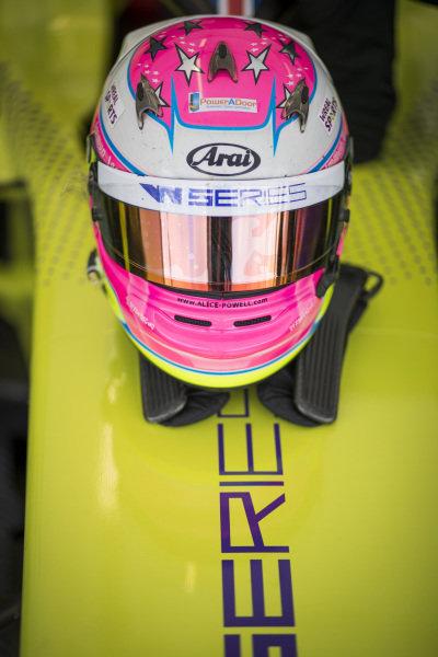 The helmet of Alice Powell (GBR)