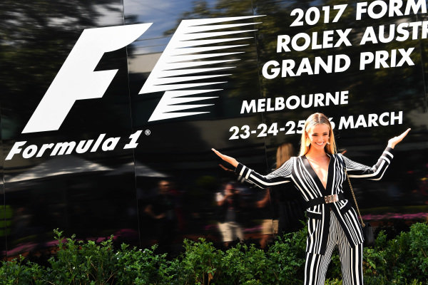 Brooke Hogan (AUS) Model at Formula One World Championship, Rd1, Australian Grand Prix, Race, Albert Park, Melbourne, Australia, Sunday 26 March 2017. BEST IMAGE