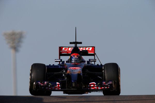 Yas Marina Circuit, Abu Dhabi, United Arab Emirates. Wednesday 26 November 2014. Max Verstappen, Toro Rosso STR9 Renault.  World Copyright: Glenn Dunbar/LAT Photographic. ref: Digital Image _89P9890