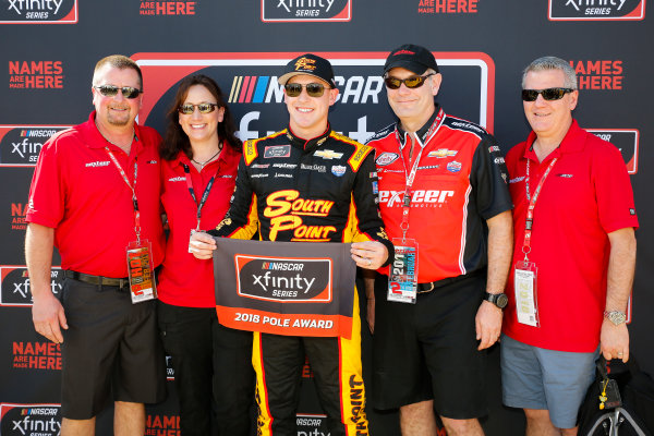 NASCAR Xfinity Series PowerShares QQQ 300 Daytona International Speedway, Daytona Beach, FL USA Saturday 17 February 2018 Matt Tifft, Richard Childress Racing, Nexteer Chevrolet Camaro pole award World Copyright: Barry Cantrell LAT Images
