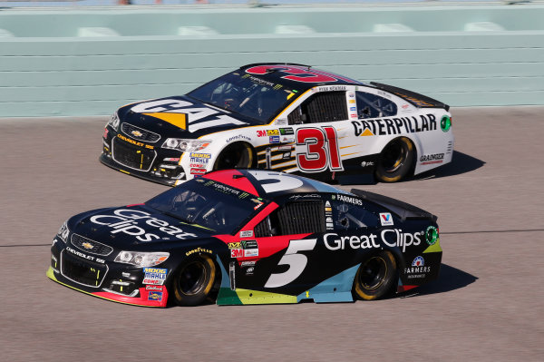 Monster Energy NASCAR Cup Series Ford EcoBoost 400 Homestead-Miami Speedway, Homestead, FL USA Sunday 19 November 2017 Kasey Kahne, Hendrick Motorsports, Great Clips Chevrolet SS Ryan Newman, Richard Childress Racing, Caterpillar Chevrolet SS World Copyright: Matthew T. Thacker LAT Images