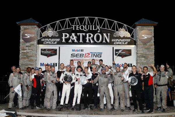 #911 Porsche Team North America Porsche 911 RSR, GTLM: Patrick Pilet, Nick Tandy, Frédéric Makowiecki, team, podium
