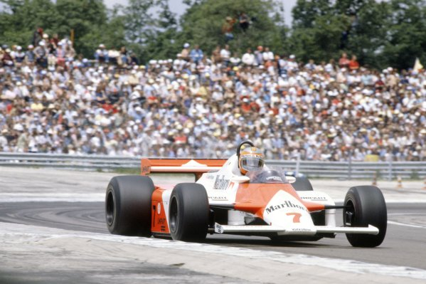 1981 French Grand Prix.Dijon-Prenois, France. 3-5 July 1981.John Watson (McLaren MP4/1-Ford Cosworth), 2nd position.World Copyright: LAT PhotographicRef: 35mm transparency 81FRA12