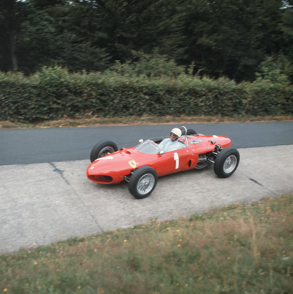 Nurburgring, Germany.3-5 August 1962.Phil Hill (Ferrari Dino 156).Ref-3/0615.World Copyright - LAT Photographic